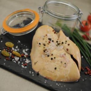 Foies gras entiers et blocs de foie gras